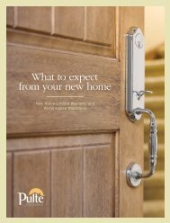 What To Expect From Your New home - You - Pulte Homes