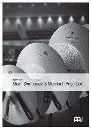 US $ price list 2011 - MEINL Cymbals
