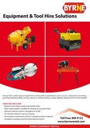 Equipment & Tool Hire Solutions - Byrne Equipment Rental LLC
