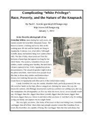 """Complicating """"White Privilege"""": Race, Poverty, and the ... - EdChange"""
