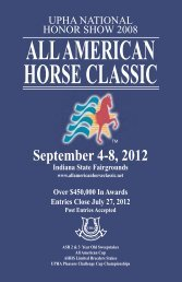 2012 Prize List - All American Horse Classic