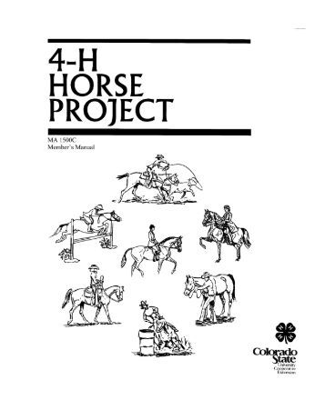 Tulare County 4-H Horse Projects, Activities and Horse