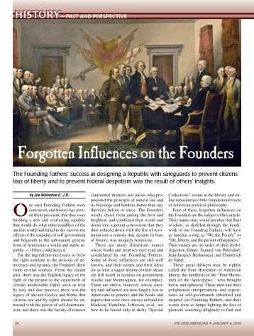 Forgotten Influences On The Founders byJoe Wolverton