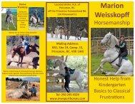 View Brochure PDF - Marion Weisskopff Horsemanship