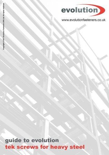 guide to evolution tek screws for heavy steel - Evolution Fasteners