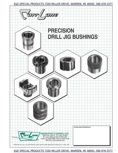 All American Bushing .125 ID x .312 OD x .75 L Headless Press Fit Drill Bushing