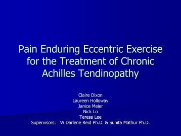 Pain-enduring Eccentric Exercise for the Treatment of - cIRcle