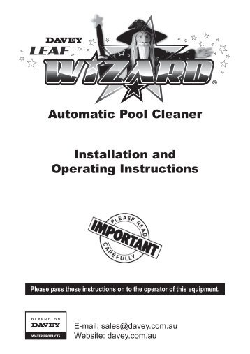 zodiac g2 pool cleaner manual