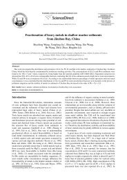 Fractionation of heavy metals in shallow marine sediments from ...