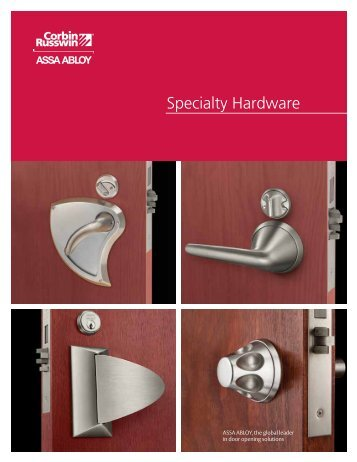 Specialty Hardware Catalog - Corbin Russwin