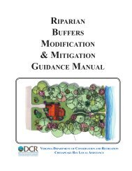 riparian buffers modification & mitigation guidance manual - Virginia