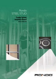 Rondo Steel Stud Framing