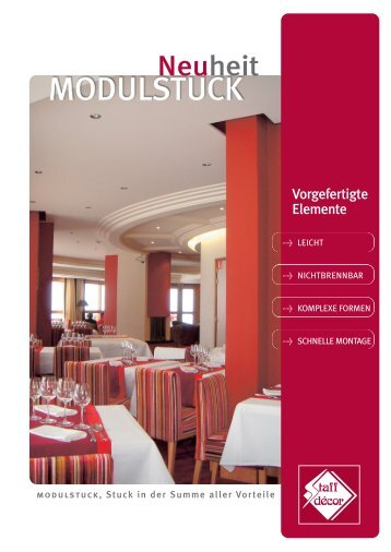 Le Stratistaff OK Allemand - Staff-Decor