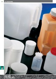 Polyethylene wide mouth jars with lid and insert - Deltalab