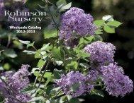 Download 2012-13 Catalog (PDF, 5MB) - Robinson Nursery