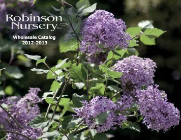 Download 2012-13 Catalog (PDF, 5MB) - Robinson Nursery
