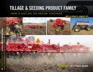 TlLLAGE & SEEDlNG PRODUCT FAMlLY - Sunflower