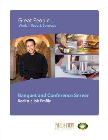 Banquet and Conference Server - niagaracasinosjobs.com