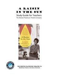 A RAISIN IN THE SUN Study Guide for Teachers - Weston ...