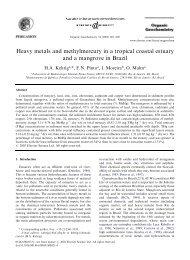 Heavy metals and methylmercury in a tropical ... - de S. MOUNIER
