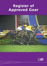Register of Approved Gear - Singapore Turf Club