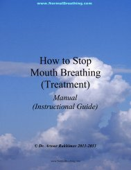 How to Stop Mouth Breathing (Treatment)