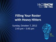 How to fill your roster with Heavy Hitters - NACS