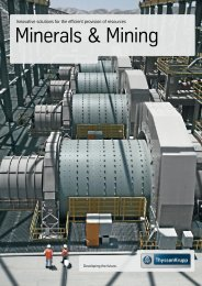 Brochure Minerals & Mining (PDF, 25.2MB) - Thyssenkrupp