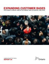 ExPANDING cuSTOmER bASES - Ministry of Research and Innovation