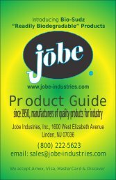 jobe brochure - Jan 2012 - 5.5 x 8.cdr - Jobe Industries Inc.