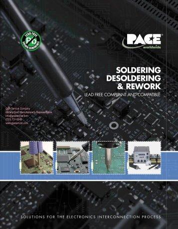 PACE Soldering Desoldering Rework Repair Catalog, represented by