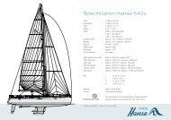 Specification Hanse 540 - Sound Sailing Center