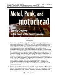 Steve Waksman1 Smith College 1. Heavy metal and ... - Echo - UCLA