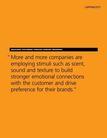 """"""" More and more companies are employing stimuli such as scent ..."""