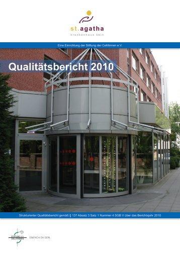Qualitätsbericht 2010 - St. Agatha-Krankenhaus gGmbH