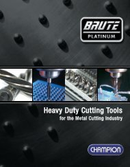 Heavy Duty Cutting Tools - Champion Cutting Tool