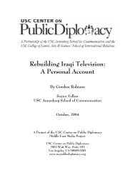 Rebuilding Iraqi Television - USC Center on Public Diplomacy