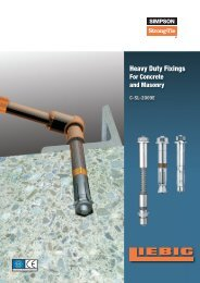 Heavy Duty Fixings - Simpson Strong-Tie