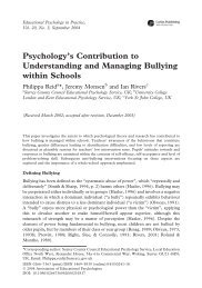 Psychology's Contribution to Understanding and Managing Bullying ...