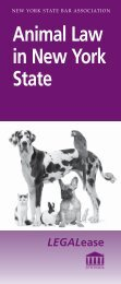 Animal Law in New York State.indd - New York State Bar Association