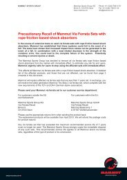 Precautionary Recall of Mammut Via Ferrata Sets with rope friction ...