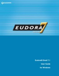 Eudora® Email 7.1 User Guide for Windows