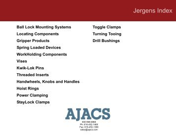 Jergens Catalog - Ajacs Die Sales Corporation
