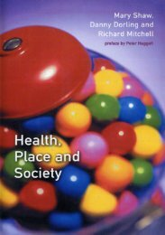 Health, Place and Society - Social and Spatial Inequalities Research ...