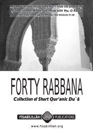Forty rabbana - Islam Awareness