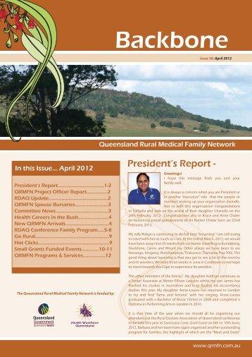 Backbone Newsletter April 2012 - QRMFN