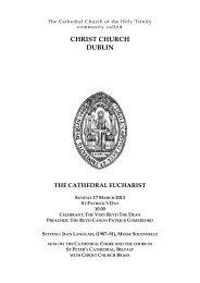 2013-03-17, Sun sung eucharist - Christ Church Cathedral