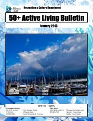 50+ Active Living Bulletin - City of Campbell River