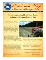 Fall 2012 Newsletter - Freedom's Way National Heritage Area