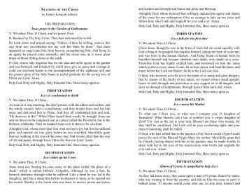 THE WAY OF THE CROSS - Opus Sanctorum Angelorum